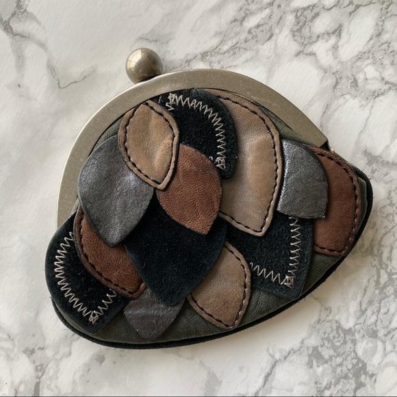 Fossil leather multi bonbon patchwork coin purse